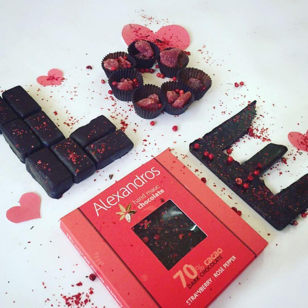 Σοκολάτα Υγείας με Φράουλα και Ροζ Πιπέρι