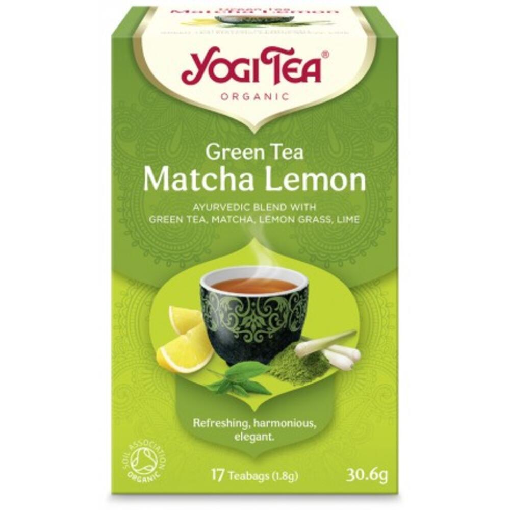 YOGI TEA GREEN MATCHA LEMON ΒΙΟ 30,6gr