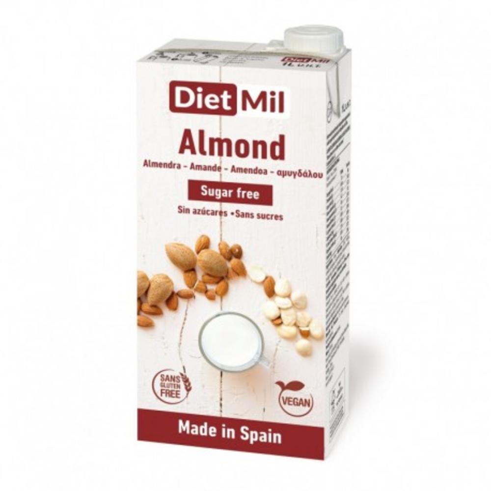 Diet Mil Ρόφημα αμυγδάλου χωρίς ζάχαρη 1λίτρο