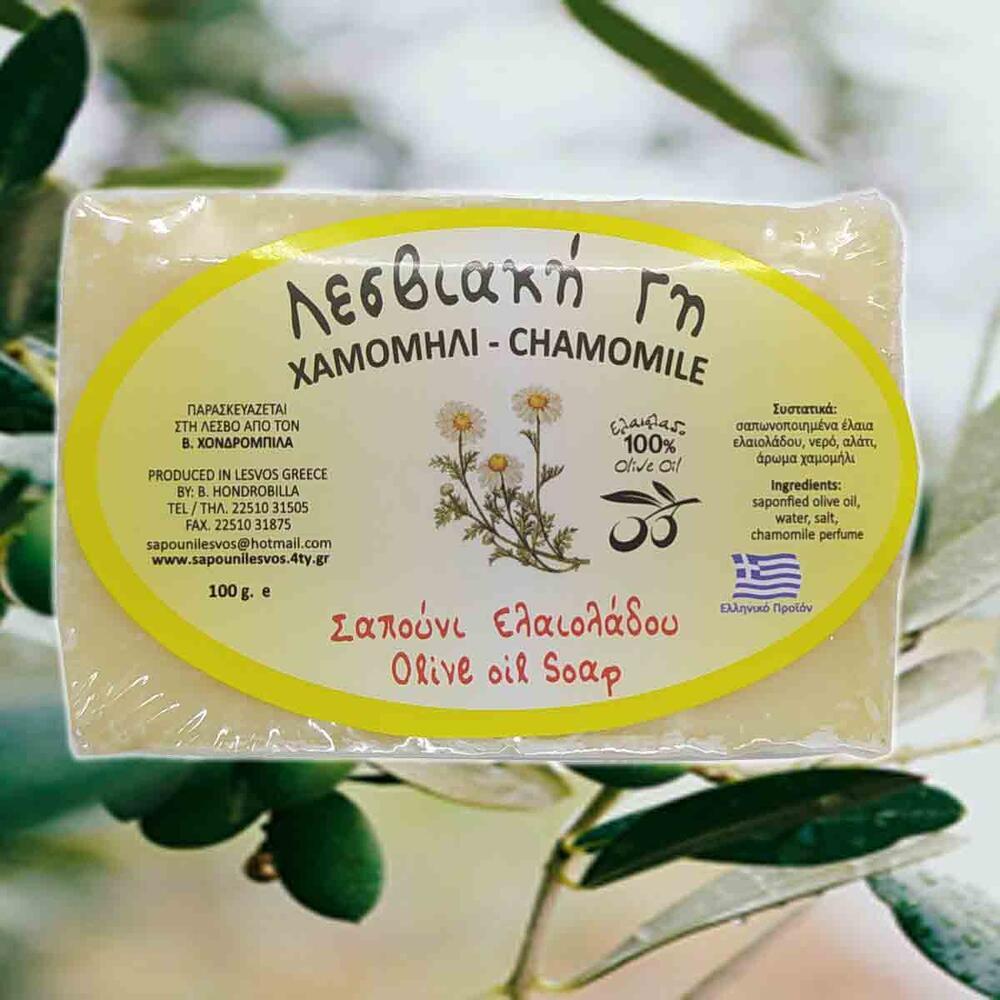 Σαπούνι Ελαιολάδου Χαμομήλι Λέσβου, 2*100gr