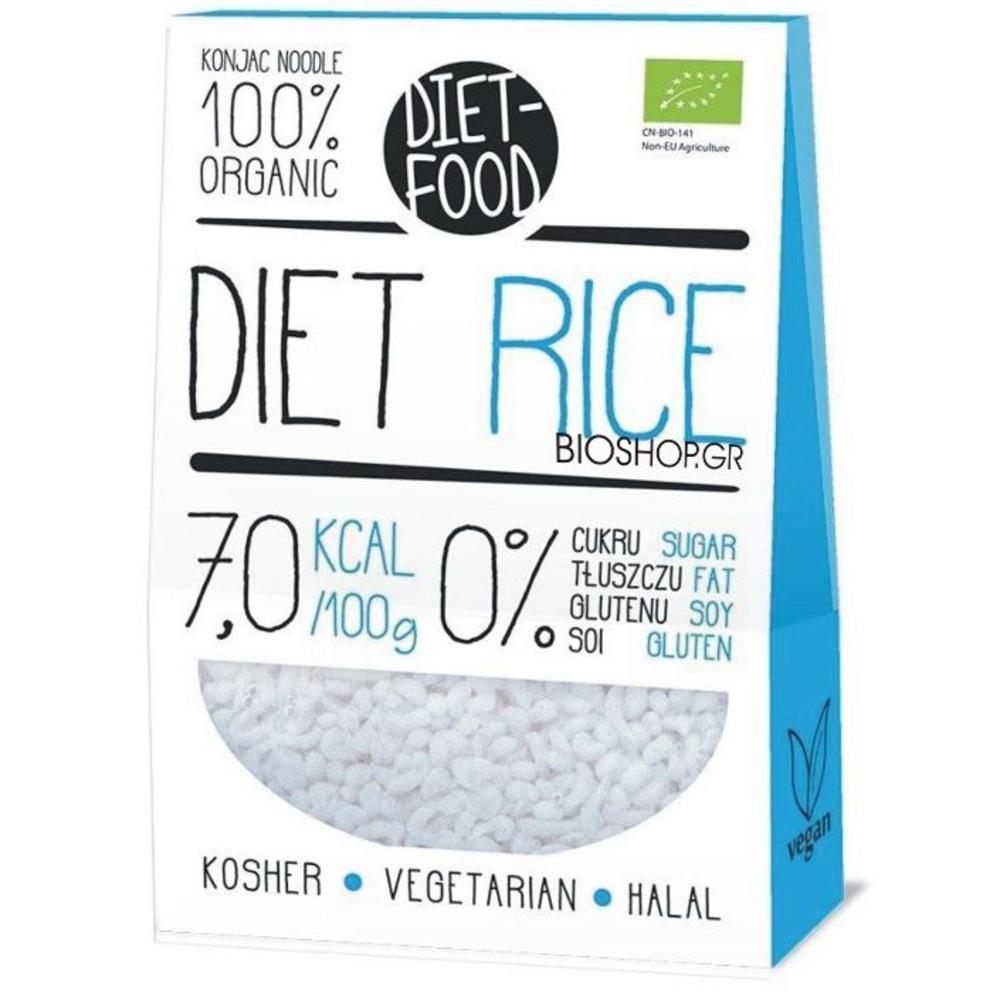 Βιολογικό ρύζι με κότζακ (shirataki) 385γρ.