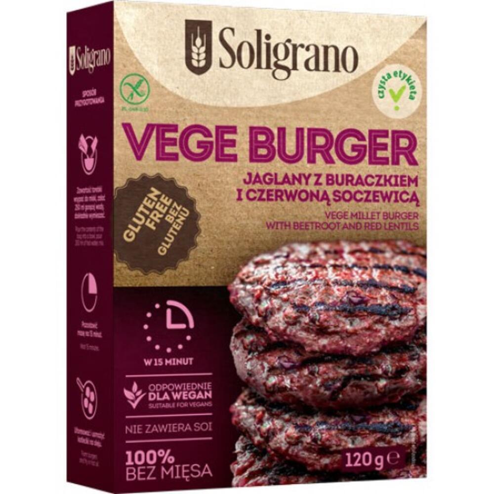 Burger vegan Παντζάρι & Κόκκινες φακές Χ/ΓΛ 120g