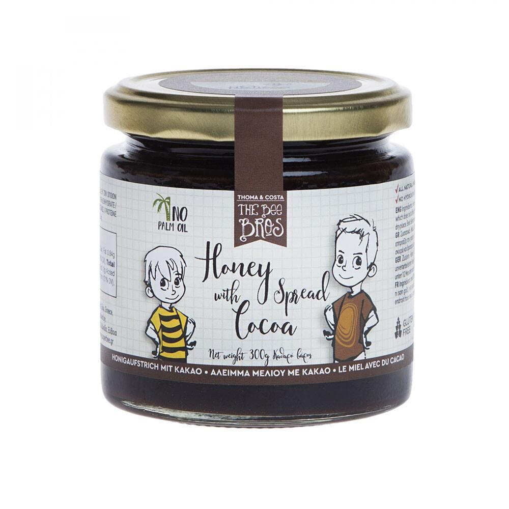 Honey spread with cocoa 300gr.