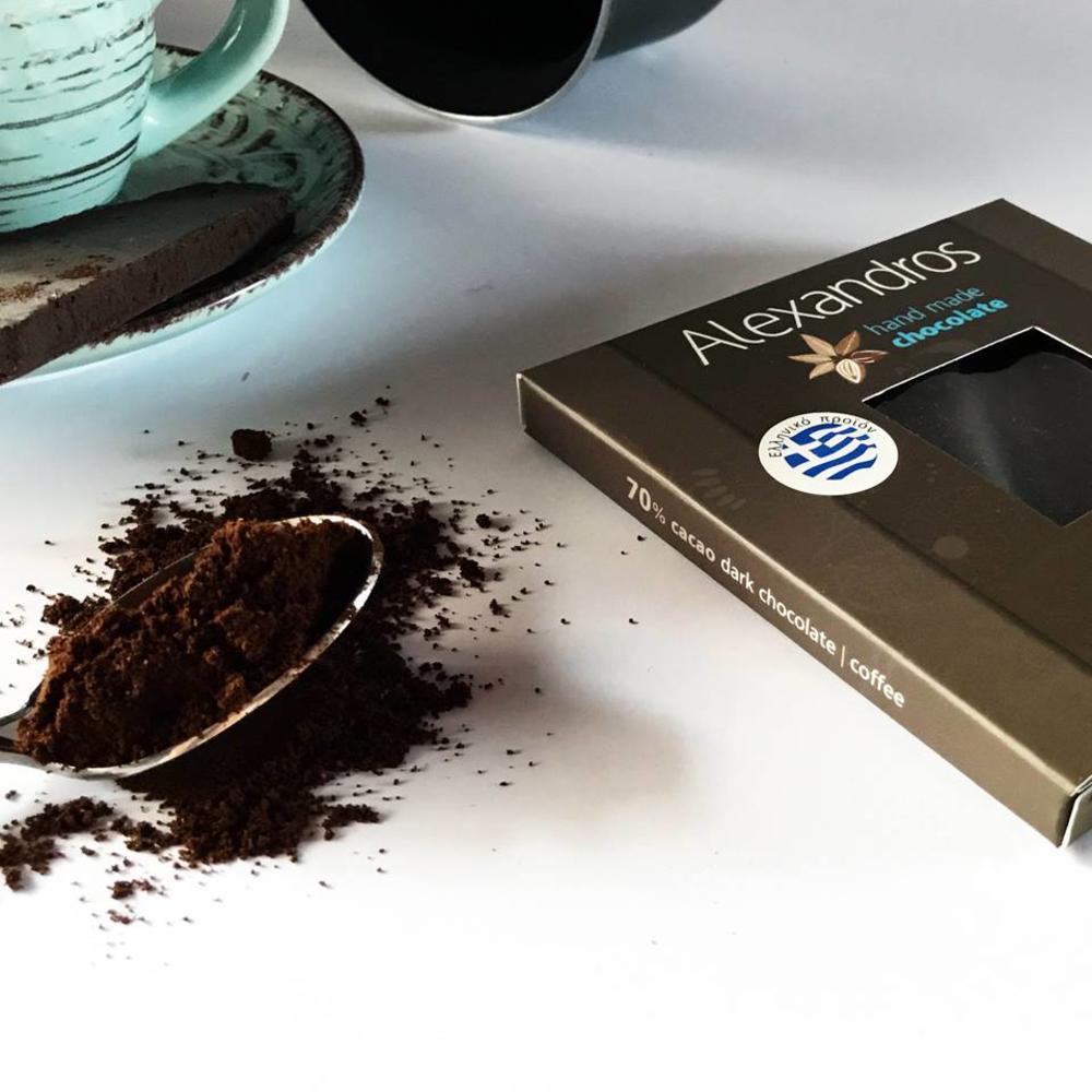 Σοκολάτα Υγείας 70% με Καφέ