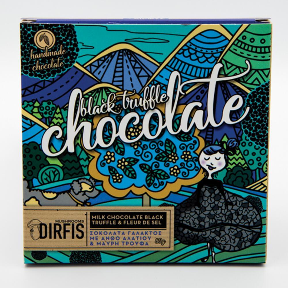 Σοκολάτα γάλακτος μαύρη τρούφα & ανθός αλατιού 80g