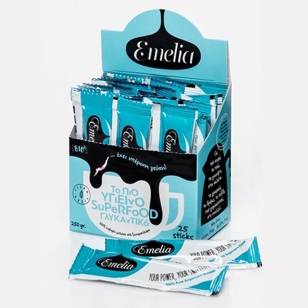 Μελάσα Emelia Sticks 10gr σε κουτί των 25τμχ