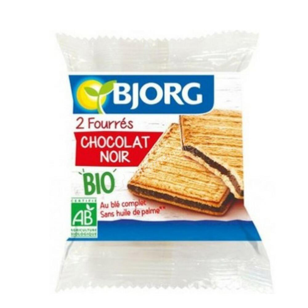 Ατομικά Μπισκότα γεμιστά με Mαύρη Σοκολάτα (50γρ) BIO