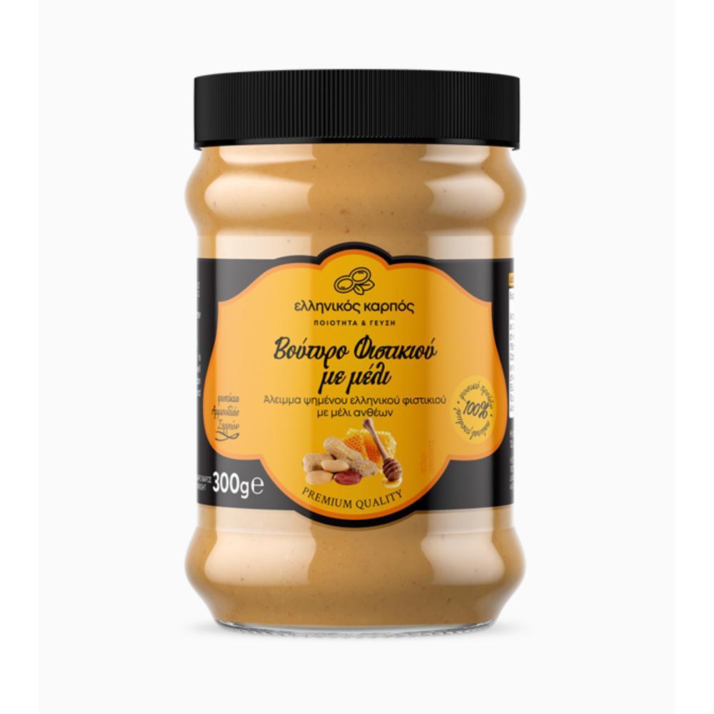 Φυστικοβούτυρο Σερρών με μέλι Θάσου 300 γρ.