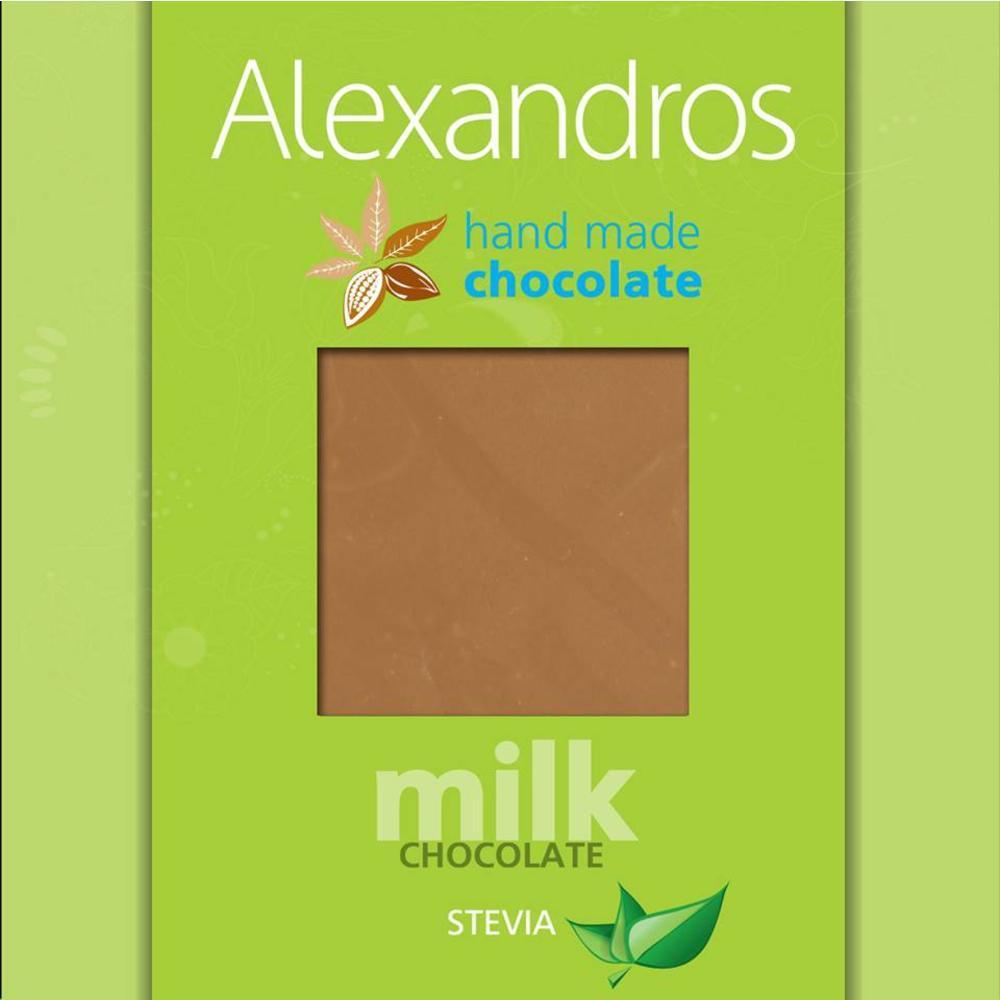 Σοκολάτα Γάλακτος Χωρίς Ζάχαρη με Στέβια