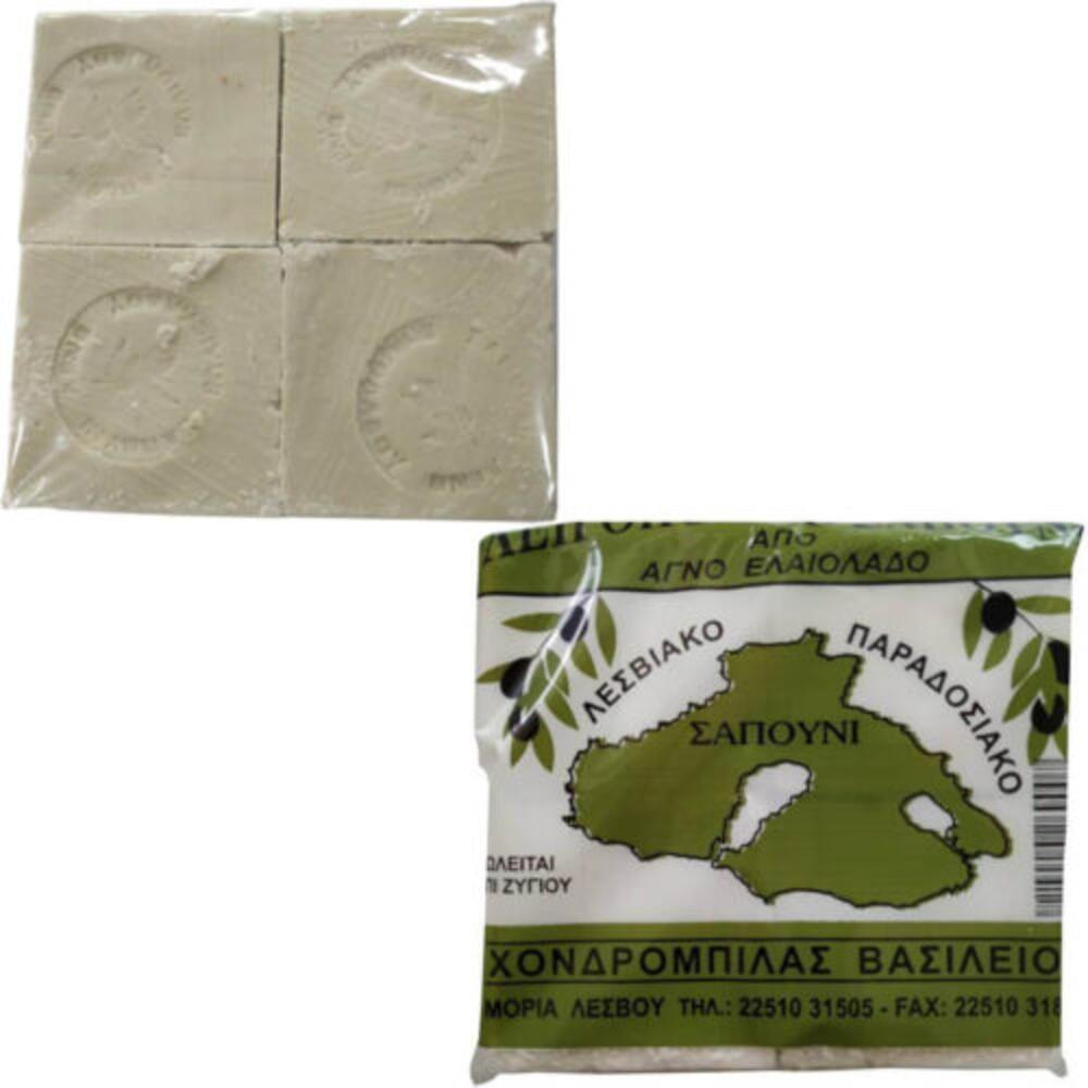 Παραδοσιακό Σαπούνι Ελαιολάδου Λευκό Συσκευασία 4Χ250γρ