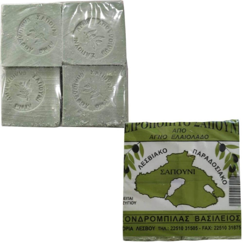 Παραδοσιακό Σαπούνι Ελαιολάδου Πράσινο Συσκευασία 4Χ250γρ