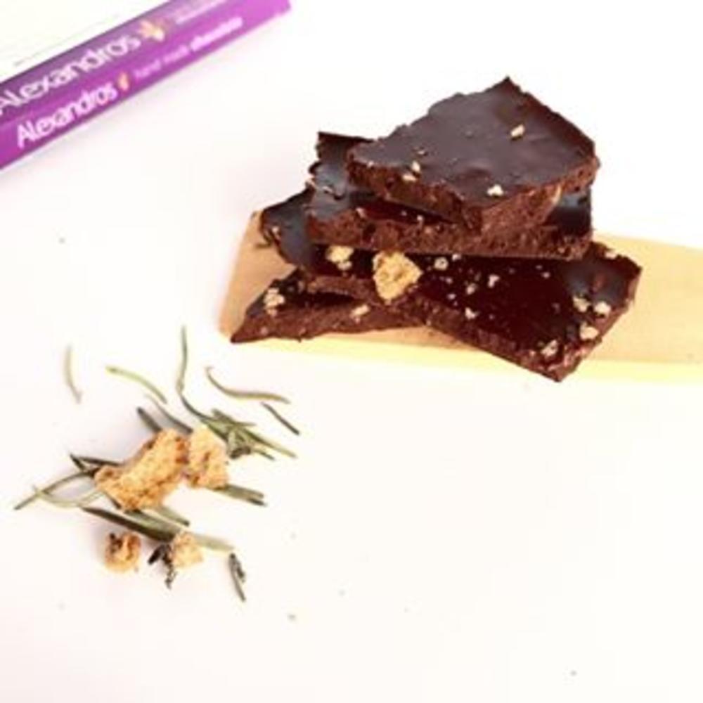 Βιολ.Σοκολάτα Υγείας με Δενδρολίβανο & Παξιμάδι