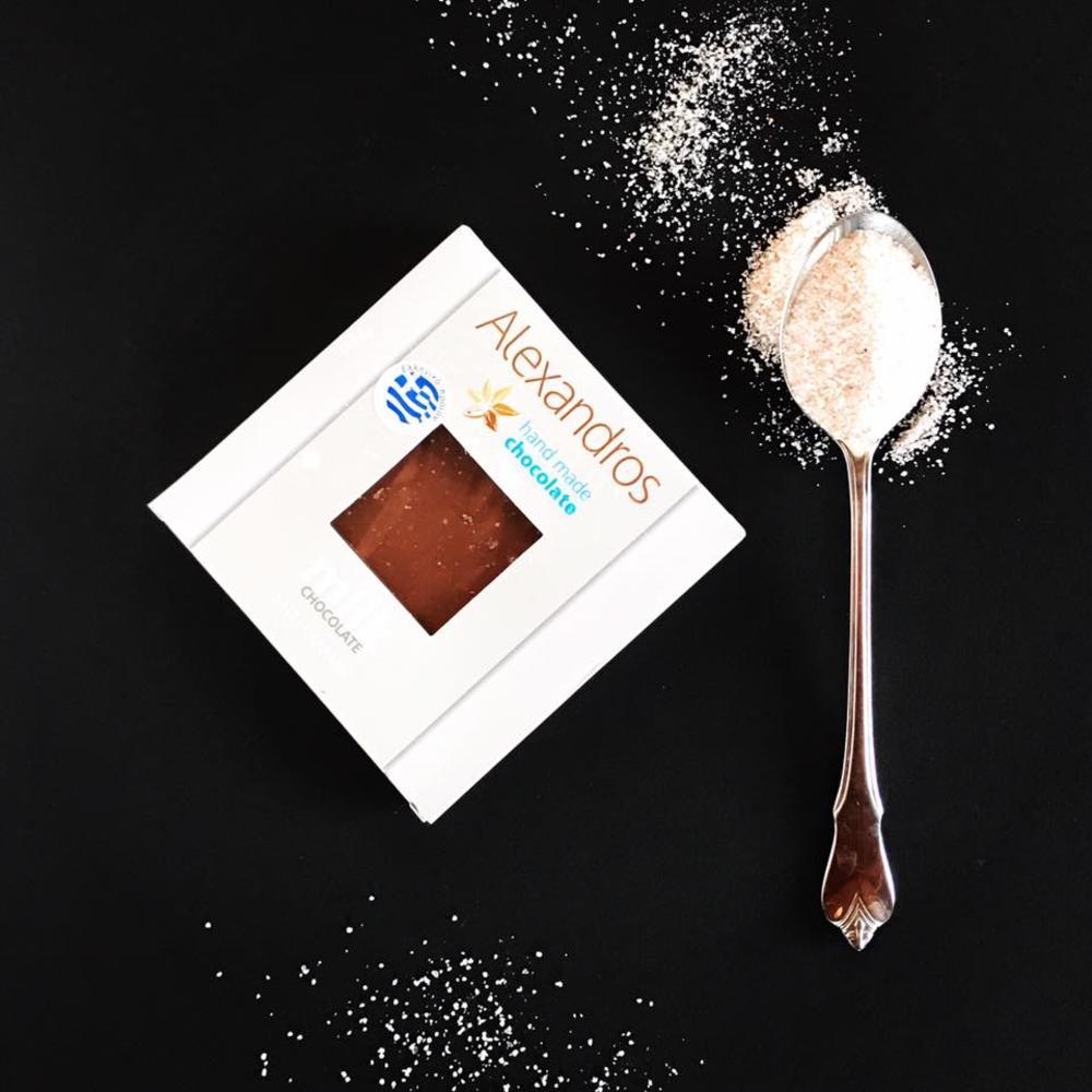 Σοκολάτα Γάλακτος με κομμάτια καραμέλας &αλάτι
