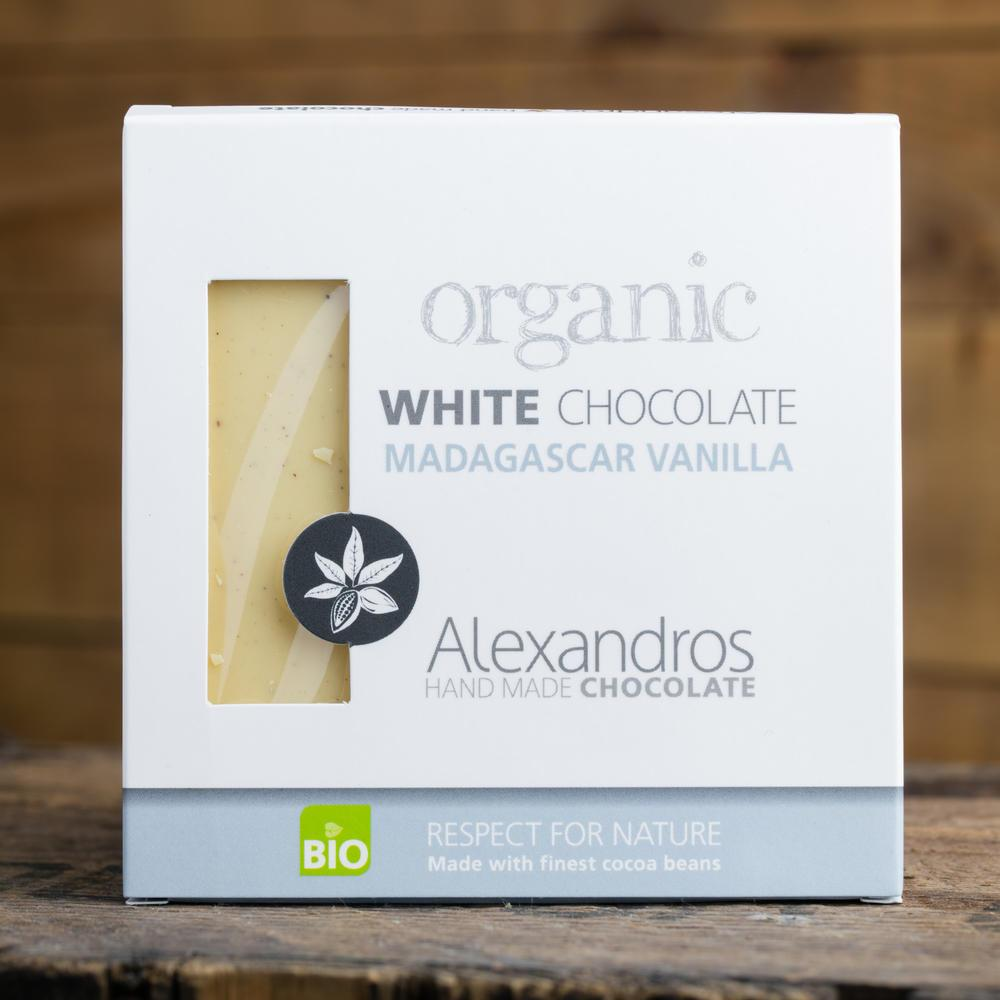 Βιολ.Λευκή σοκολάτα με βανίλια Μαδαγασκάρης